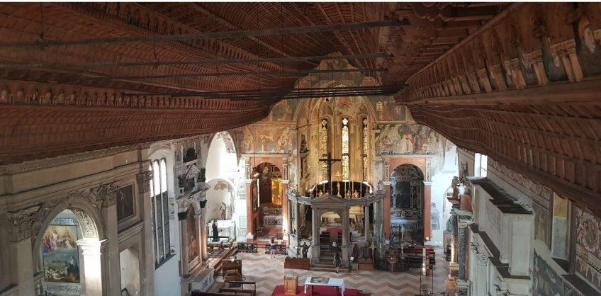 Restauro ultimo lotto del soffitto ligneo della Chiesa superiore di S. Fermo Maggiore