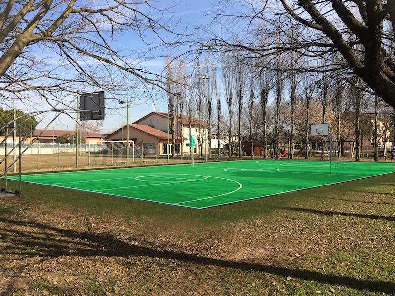 RIMBALZIAMO NEL FUTURO – Rifacimento campo basket/volley parrocchiale di Marchesino di Buttapietra